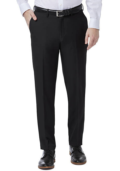 Premium Comfort 4-Way Stretch Slim Fit Flat Front Dress Pants