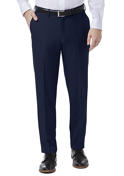 Haggar® Premium Comfort 4-Way Stretch Slim Fit Flat