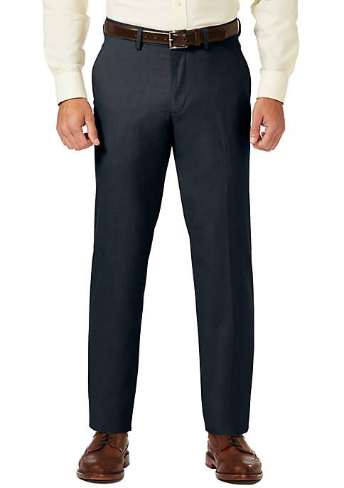 Haggar® Sharkskin Striaght Fit Super Flex Waistband Flat