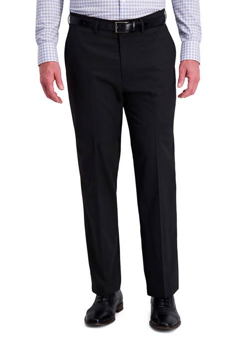 Haggar® Diamond Weave 4-Way Stretch Classic Fit Flat