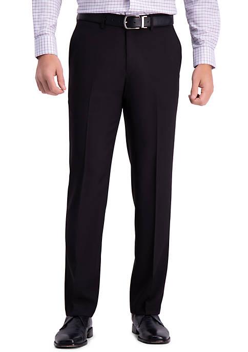 Premium Comfort Straight Fit Flat Front Dress Pants