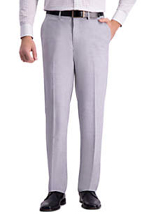 Haggar® 4 Way Stretch Straight Fit Flat Front Dress Pants