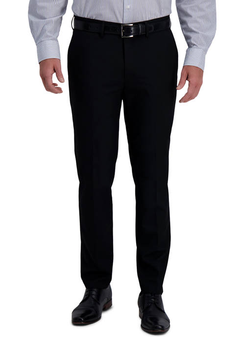 Haggar® Mens Solid 4 Way Stretch Slim Fit