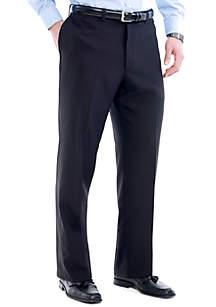 Haggar® Big & Tall Eclo Stria Classic Fit Flat Front Dress Pants