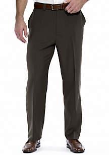 Big & Tall eCLo™ Stria Classic-Fit Flat-Front Dress Pants
