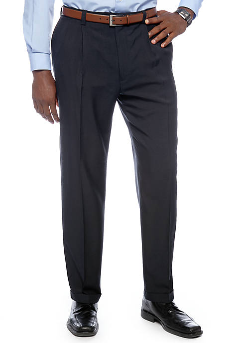Haggar® Big & Tall eCLo™ Stria Classic-Fit Pleated