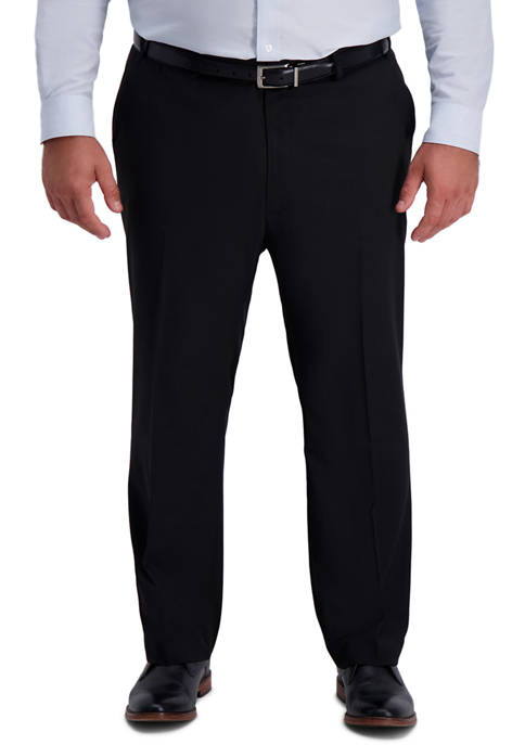 Big & Tall Active Series Classic Fit Flat Front Active Flex Waistband Dress Pants