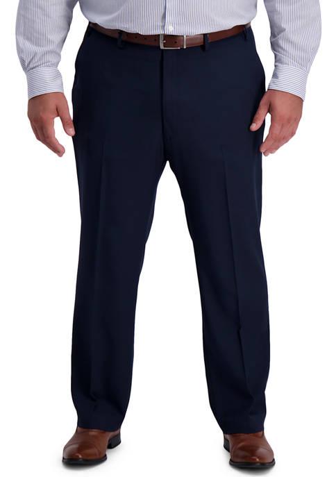 Big & Tall Active Series Classic Fit Flat Front Active Flex Waistband Dress Pants