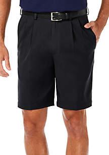 Haggar® Cool 18 PRO Stretch Solid Pleat Shorts