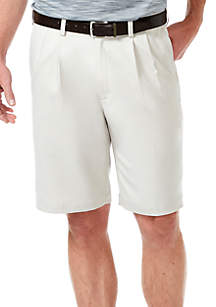 Haggar® Cool 18 PRO Stretch Solid Pleat Shorts