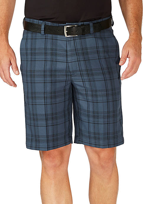 Haggar® Flat Front Plaid Short