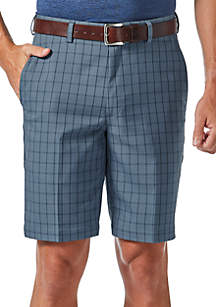 9.5-in. Classic-Fit Flat-Front Non-Iron Windowpane Cool 18® Shorts