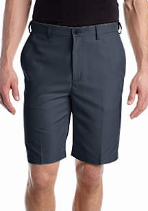 9-inch Classic-Fit Flat-Front Hidden Expandable Waistband Cool 18® Shorts