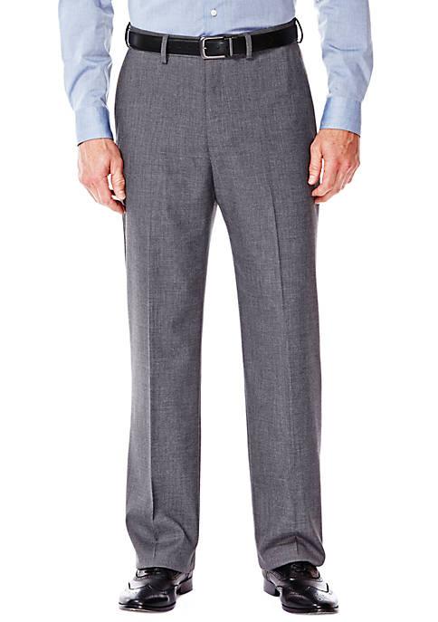 Premium Stretch Sharkskin Classic Fit Suit Pants