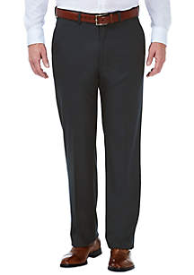 Stretch Grid Classic Fit Flat Front Suit Pant