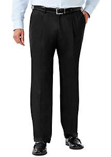 Stretch Sharkskin Classic Fit Pleat Front Suit Pant