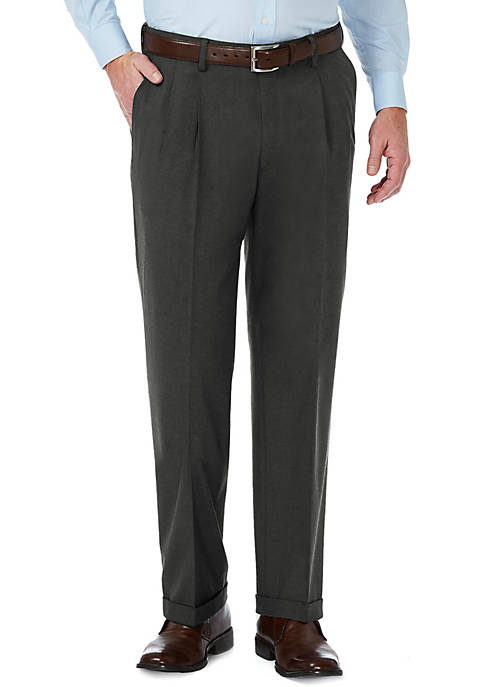 Haggar® Stretch Sharkskin Classic Fit Pleat Front Suit