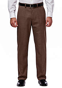 Stretch Sharkskin Classic Fit Pleat Front Suit Pant