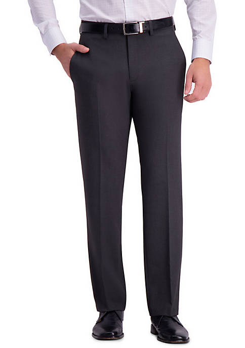 4 Way Stretch Solid Gab Tailored Fit Flat Front Suit Separate Pants
