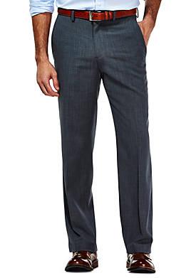 Travel Performance Tailored Fit Stria Gabardine Suit Pants