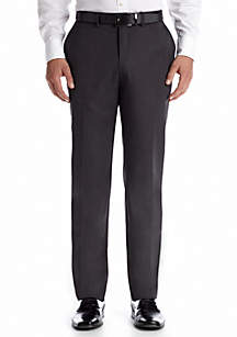 Tailored Fit Wrinkle Free Stria Stripe Flat Front Performance Suit Separate Pants
