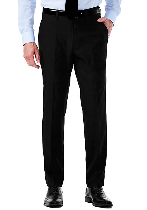 Haggar® EXS Stretch Performance Slim Fit Melange Gabardine