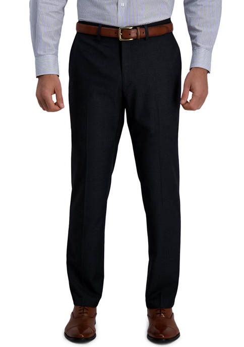 Haggar® Mens Signature Herringbone Tailored Fit Flat Front