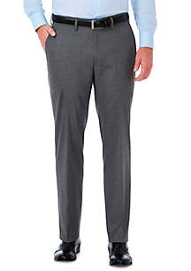 Stretch Sharksin Tailored Fit Flat Front Suit Pant