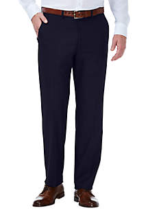 Stretch Dobby Slim Fit Flat Front Suit Pants