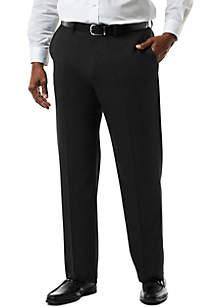Big & Tall Stretch Sharkskin Classic Fit Flat Front Suit Pants