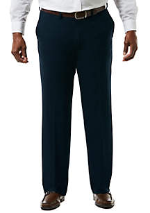 Big & Tall Stretch Sharkskin Classic Fit Flat Front Suit Pants