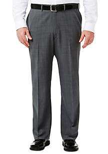 Big & Tall Travel Performance Classic Fit Stria Gabardine Suit Pants