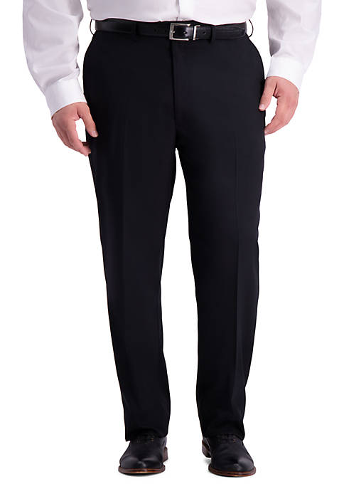 Big & Tall Stretch Travel Performance Heather Twill Classic Fit Suit Separate Pants