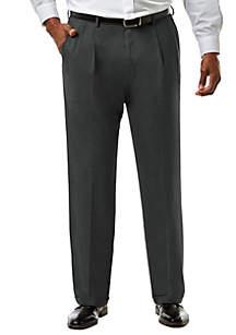 Big & Tall Stretch Sharkskin Classic Fit Pleat Front Suit Pants