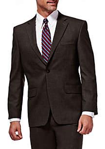 Premium Stretch Sharkskin Classic Fit Suit Coat
