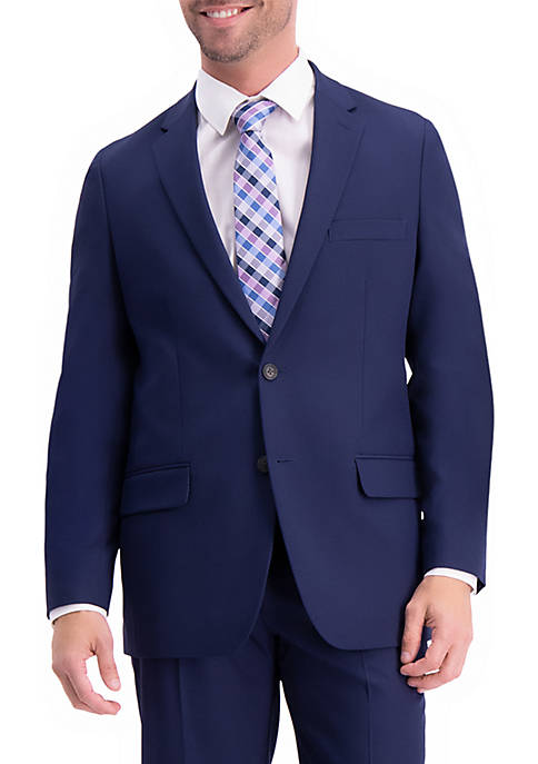 Active Series Herringbone Classic Fit Suit Separate Coat