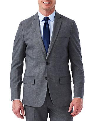 Haggar Mens Big and Tall Big /& Tall Performance Stria Gabardine Classic Fit Suit Separate Coat