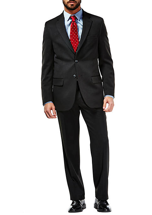 Travel Performance Heather Pinstripe Tailored Fit Suit Coat