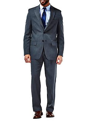 Performance Tailored Fit Stria Gabardine Suit Coat