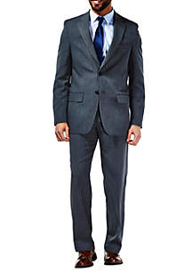 Performance Tailored Fit Stria Gabardine Suit Coat