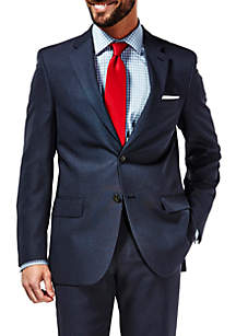 Travel Performance Tailored Fit Tic Weave Suit Coat