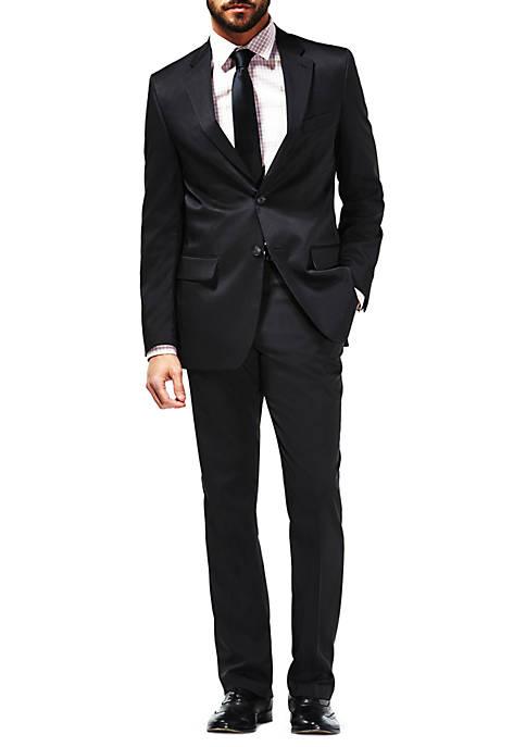 Travel Performance Micro Tonal Stripe Tailored Fit Suit Coat