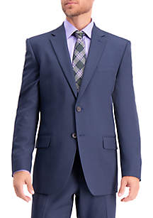 Stretch Travel Performance Solid Tailored Fit Suit Coat