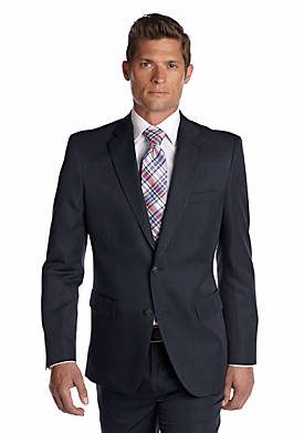 Tailored Fit Wrinkle Free Stria Stripe Performance Suit Separate Coat