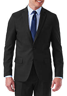 EXS Stretch Performance Slim Fit Melange Gabardine Suit Coat