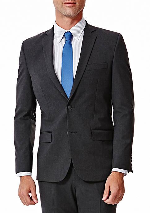 4 Way Stretch Solid Gab Slim Fit Suit Separate Coat
