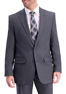 Stretch Travel Performance Stria Tailored Fit Suit Coat