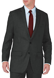 Stretch Sharkskin Tailored Fit Suit Coat