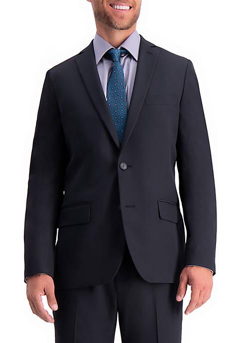 Active Series Herringbone Slim Fit Suit Separate Coat