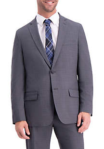 Plaid Slim Fit Suit Coat